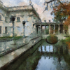 Palace on the Water, Lazienki Park, Warsaw as painted by Cezanne