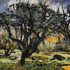 Tree in Japanese Garden, BBG, as painted by Van Gogh