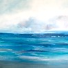 """Oceans of Energy-Hibberd, 40""""X40"""" painting on canvas"""