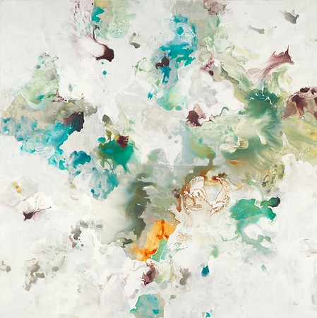 Inter-Flow IV, Ridgers, 48x48 on canvas