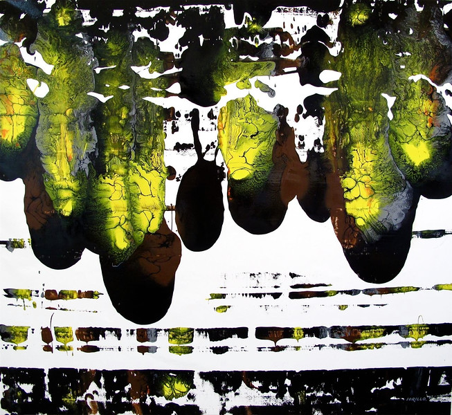 yellow black velocity-iorillo, 55x50 canvas