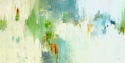 """Interflow by Ridgers, 60""""x30"""" acrylic painting on canvas"""