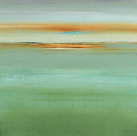 Calm Scene V-Ridgers, 40x40 canvas (16-4-09)
