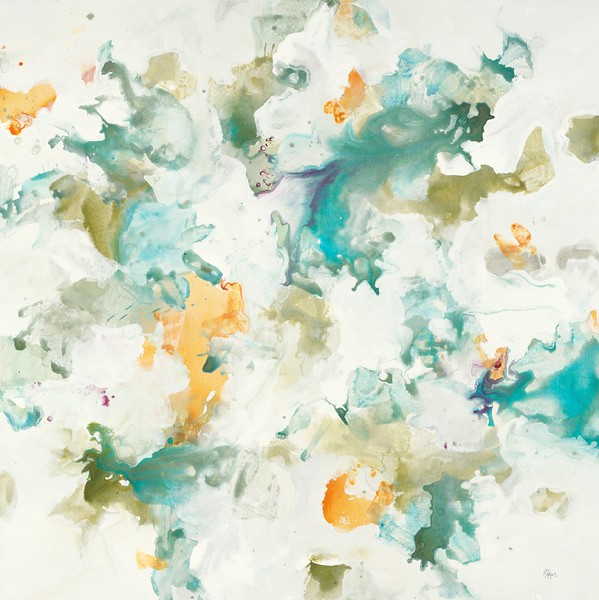 "Float Away III-Ridgers, 40""X40"" on canvas"