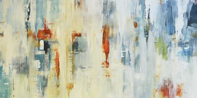 """Collective Thoughts-Ridgers, 60""""X30"""" acrylic painting on canvas"""