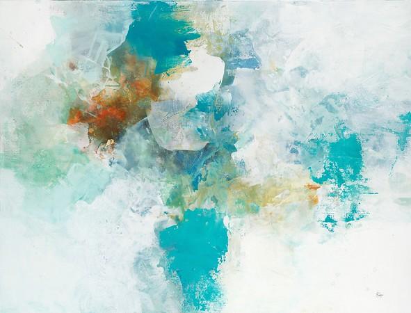 "Muted Flow II-Ridgers, 38""x50"" on canvas"