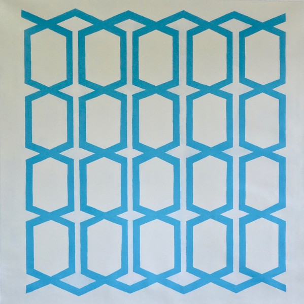 Pattern Blue-Hibberd, 50x50 on canvas (AERS17-2-01)