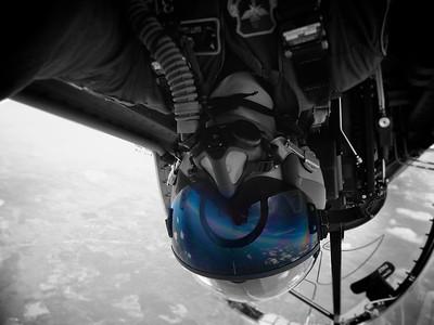 Self Portrait!  Matt Ledyard flying inverted at the top of a loop.