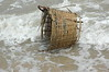"Along the coastal waters of Northern Vietnam these baskets are used to haul fish and ""fishy animals"" to market.  This one, bottomless and no longer of use became an ""object de' art""."