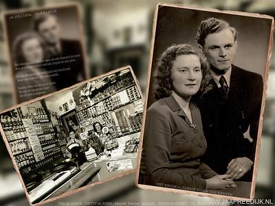 Dhr en mevr Kroon 60 jaar getrouwd.