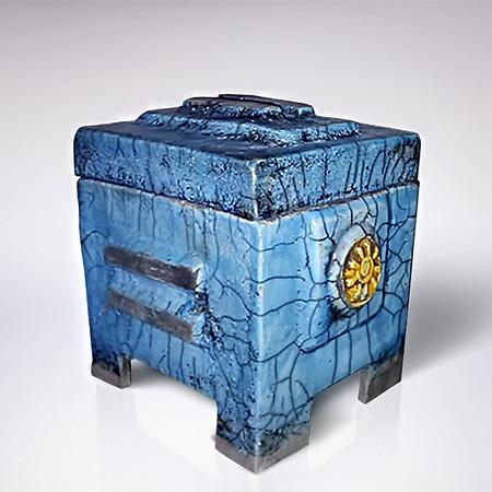 Blue Raku Box