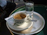 Café Flore à Saint Germain de près  à Paris  2003