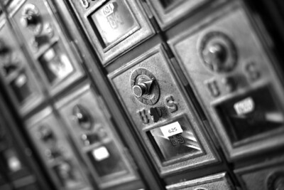 Post Office Valle Crucis BW