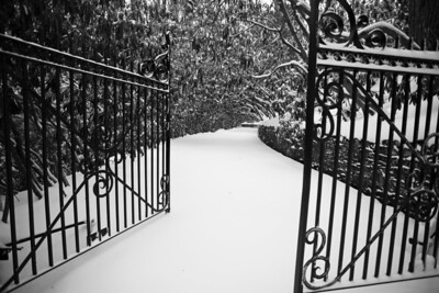 Iron Gate in snow - Blowing Rock