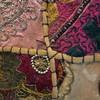 Detail of bundled fiber overstitched on seams.