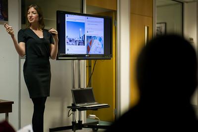 Social media workshop with Keren Lerner of Top Left Design