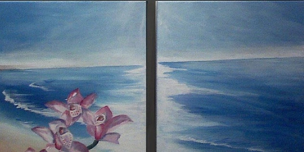 Beach Orchids-SOLD