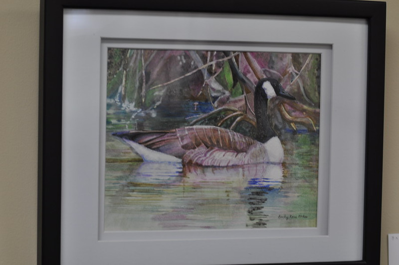 Canada Goose - Watercolor - Matted and Framed with glass