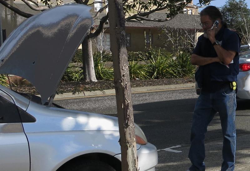 stalled car, El Cerrito