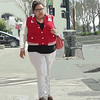 pedestrian w red jacket
