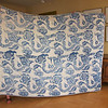 Whole Cloth Quilt, probably last half 18th century.  Indigo resist on cotton.  76 x 98.  Illustrated.  Purchased 1998 from America Hurrah for $8500.