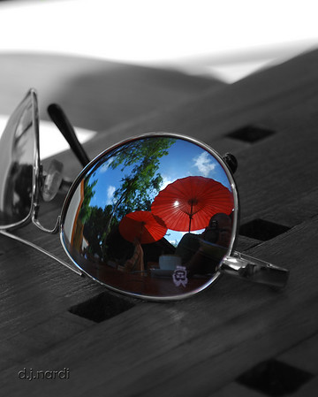 Another fun reflection shot, this time off my aviators at breakfast one morning in Chiang Mai.