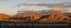 Chisos Mts Maverick Badlands Indian Head Sunset 4x10