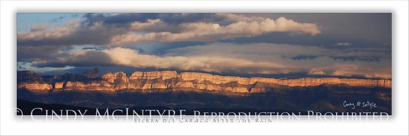 Sierra del Carmen after Rain 4x12