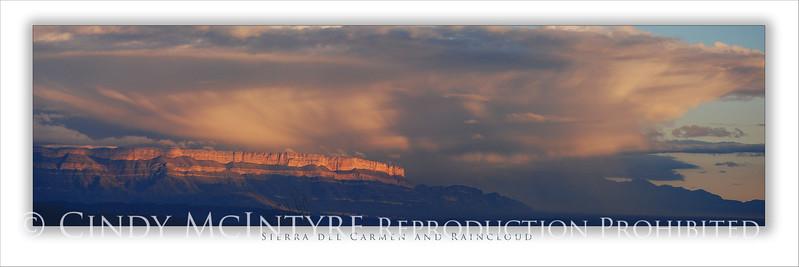 Sierra del Carmen and  Raincloud 4x12