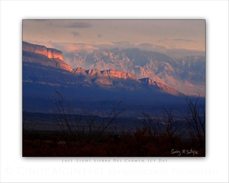 Last Light Sierra Carmens Icy Day  8x10
