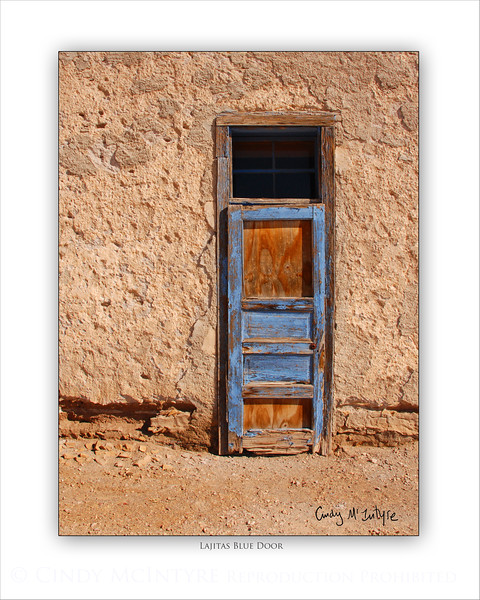 Lajitas Blue Door 8x10 copy