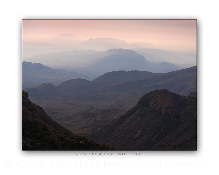 Lost Mine Trail Viewpoint 8x10