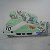 1-Malcolm White & Phil Love - British GP Sidecars 10 August 1980, Silverstone  14x17, color pencil, march 1, 2015 CIMG9582