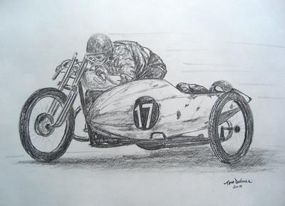 Eddy Meier ,Arpajon, France, 1925. 11x14, graphite pencil, mar 14, 2015. $75US