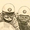 Detail - Arsenius Butcher and passenger J Huber, Ballaugh Bridge,1971 TT. 11x14, garphite pencil, jan 12, 2015