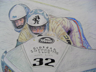 Franco Matinelli & Kevin Morgan, IoM, 1987, 14x17, graphite & color pencil, completed mar 6, 2015 CIMG9604
