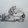 Max Duebel & Emil Horns, BMW, Salzburg, Austria, 1965 14x17 graphite pencil, nov 18, 2014 . $100US