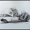 1-Terry Vinnicombe & John Flaxman, 1965 IoM TT on BSA, 14x17, graphite pencil, may 15, 2017 IMG_79372