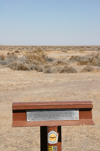 Nobles Trail Desert Country marker