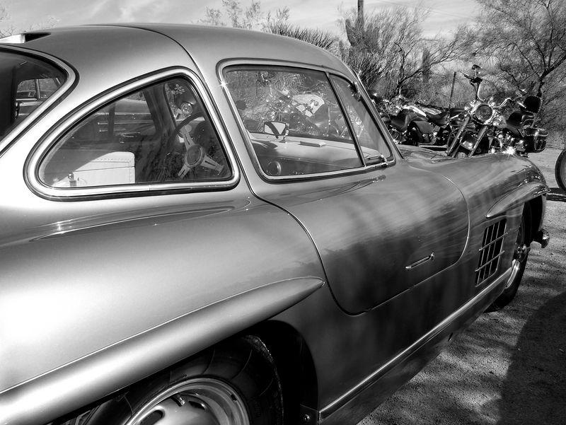 Gullwing 1955 Mercedes-Benz<br /> BLACK & WHITE<br /> Arizona
