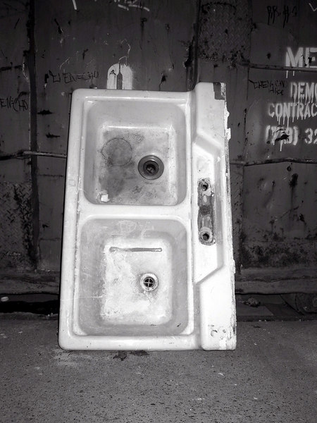 """Sink on a street corner""<br /> New York City, NY"