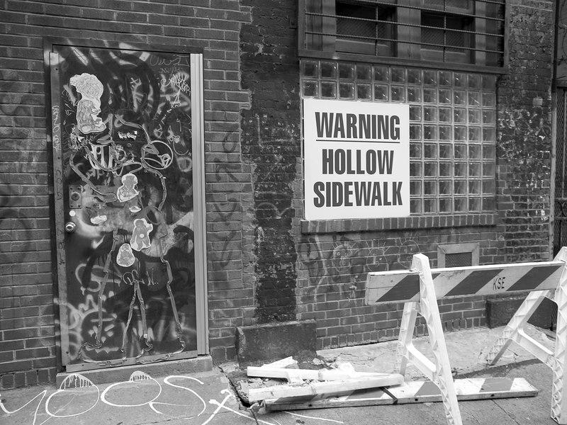 """Warning Hollow Sidewalk""<br /> New York City, NY"