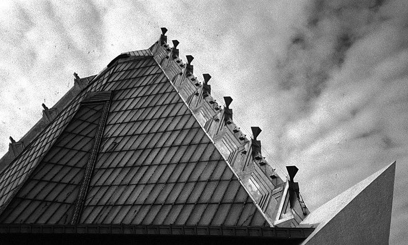 Frank Lloyd Wright temple<br /> Elkins Park, PA
