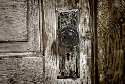 Black and White Door Knob