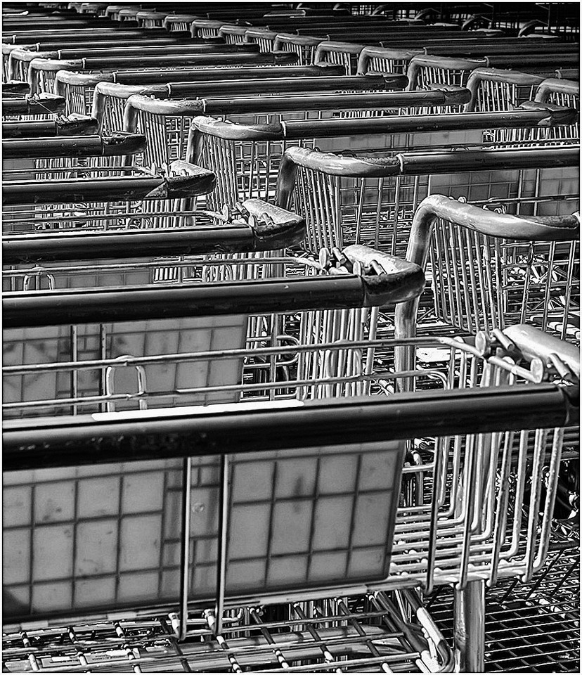 Carts seen at a local nursery