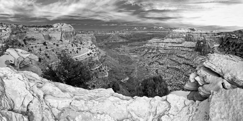Shafer Trail in black and white.  I have the same image in color, and I like both.