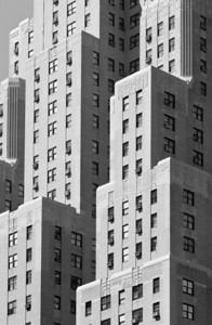 detail of an appartment building in New York City