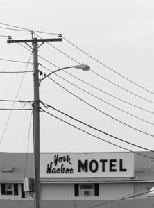 motel in b&w