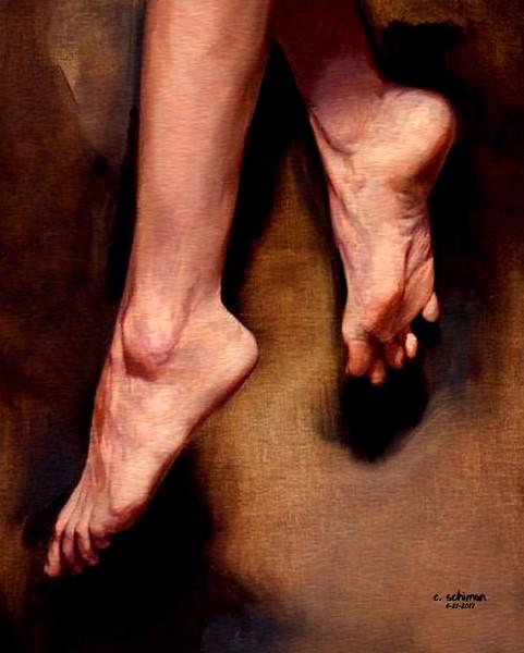 charlie's feet.