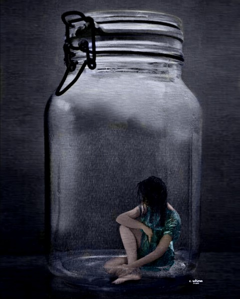 Depression - Sometimes you feel like you're trapped inside a bottle.
